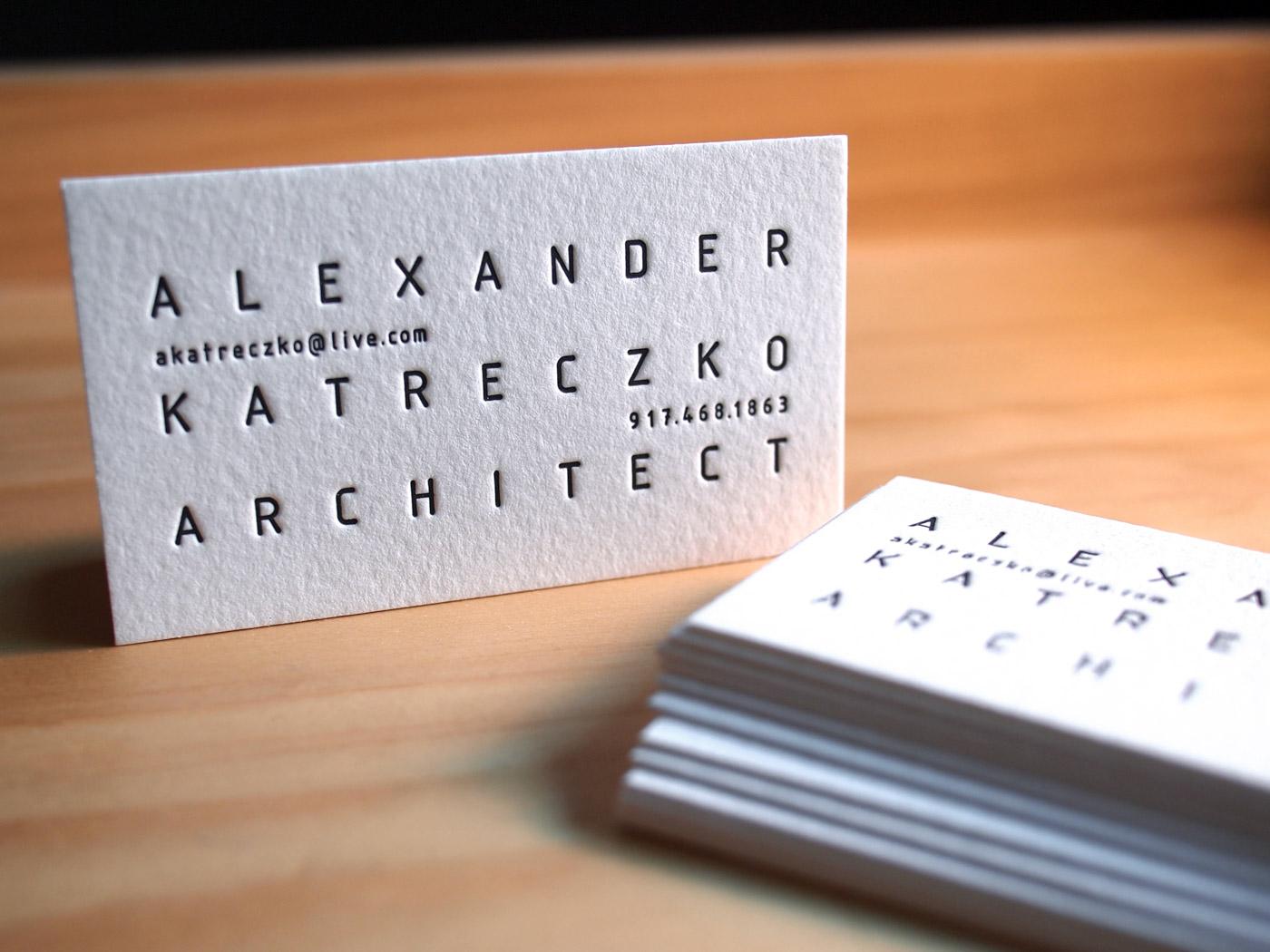 Letterpress business card gallery parklife press alexander katreczko colourmoves