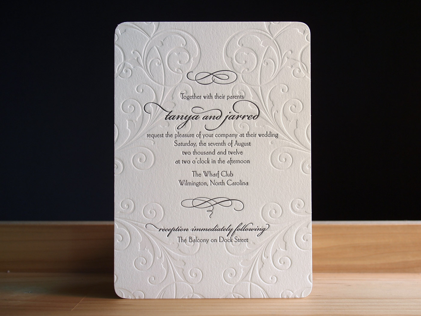Letterpress Wedding Invitations Carlton Parklife Press