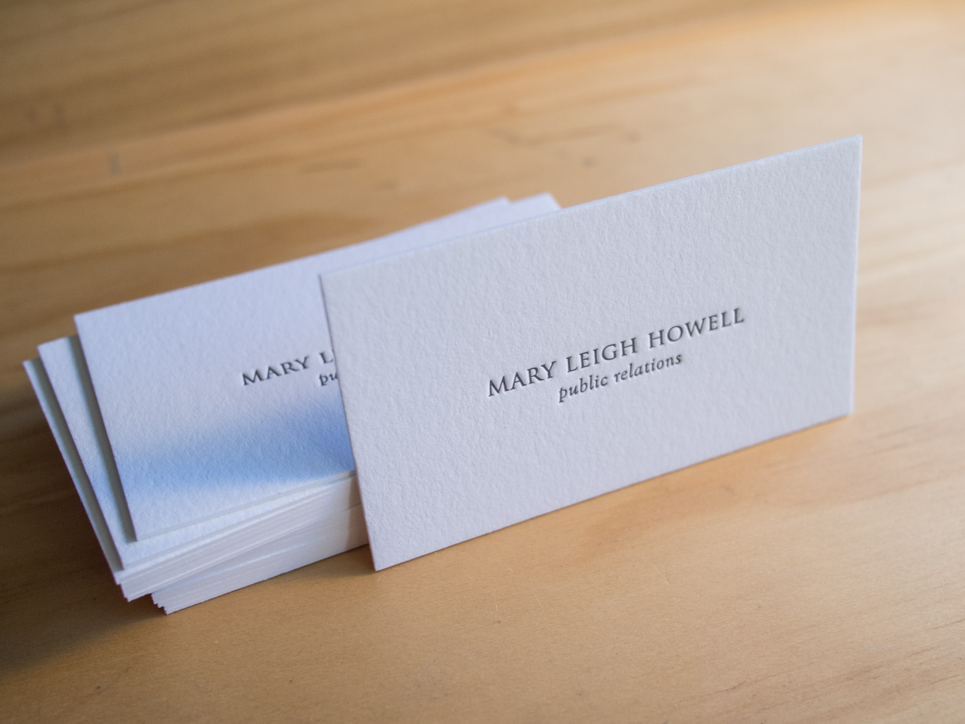 Letterpress Business Cards | Mary Leigh Howell | Parklife Press