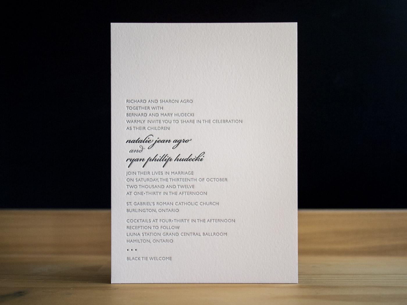 Letterpress Wedding Invitations | Ontario | Parklife Press