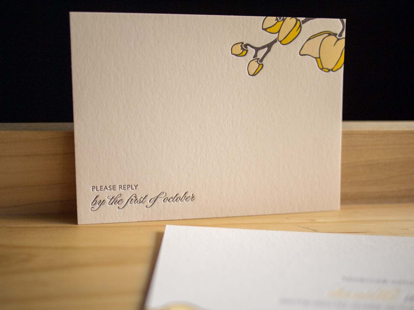 Petal invitation from Parklife Press