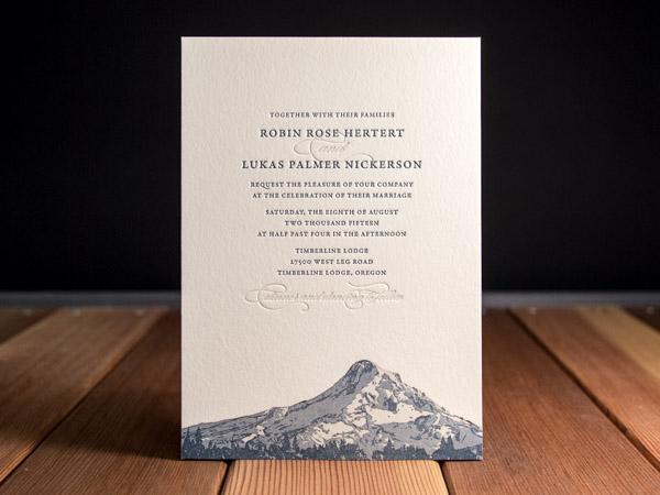 Letterpress wedding invitation gallery parklife press peak stopboris Images