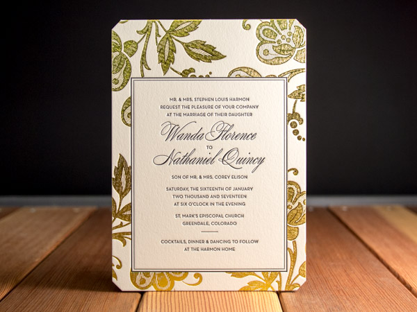 Letterpress wedding invitation gallery parklife press riviera stopboris Images