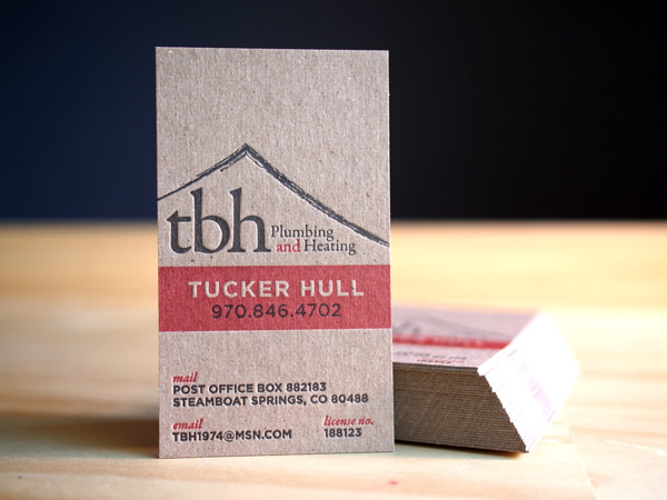Letterpress business card gallery parklife press reheart Choice Image
