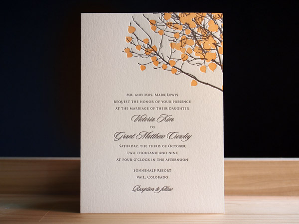 letterpress wedding invitation gallery | parklife press, Wedding invitations