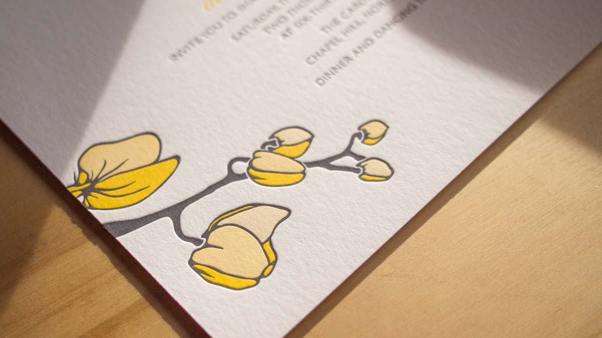 Letterpress wedding invitations business cards and more parklife letterpress wedding invitations colourmoves